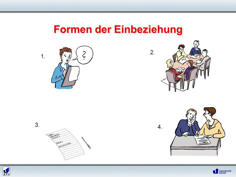 Formen der Einbeziehung 1. 2. 3. 4.