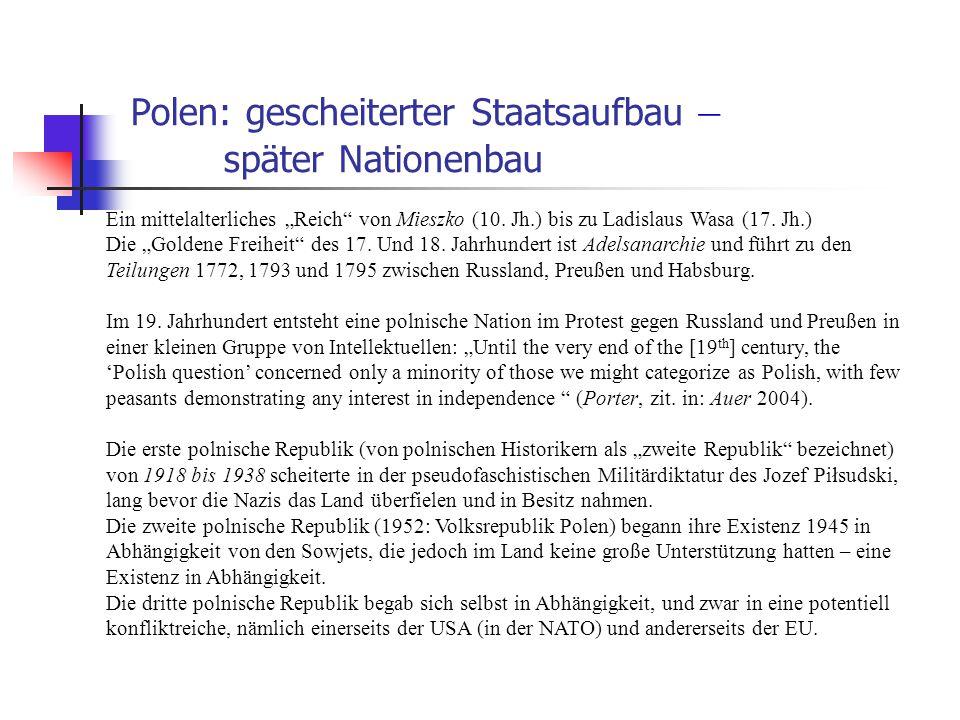 """Polen: gescheiterter Staatsaufbau – später Nationenbau Ein mittelalterliches """"Reich"""" von Mieszko (10. Jh.) bis zu Ladislaus Wasa (17. Jh.) Die """"Golden"""