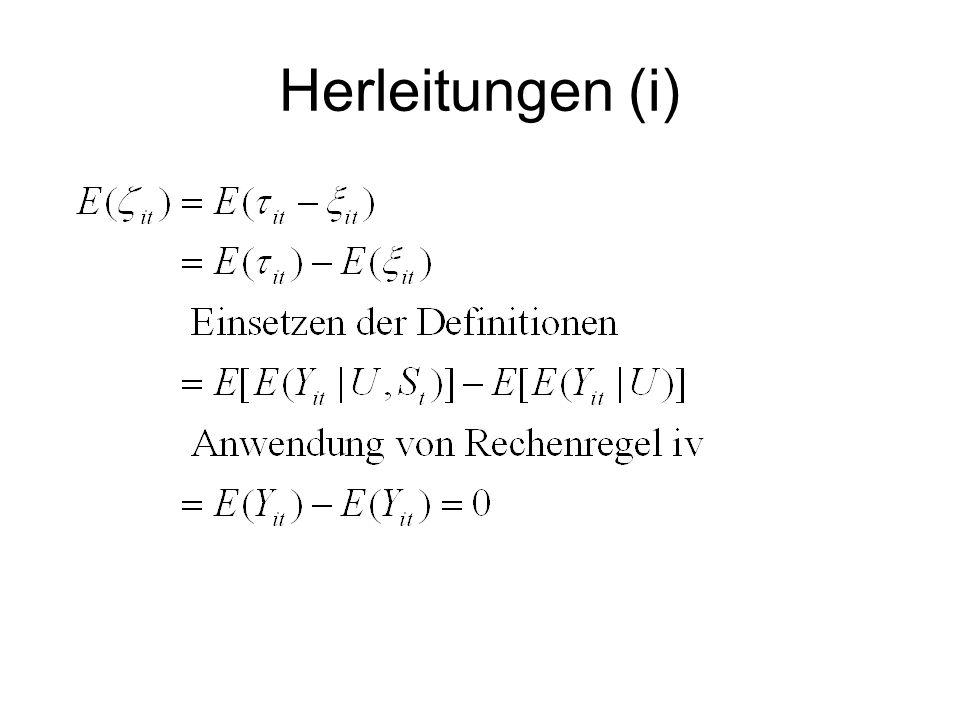 Herleitungen (i)