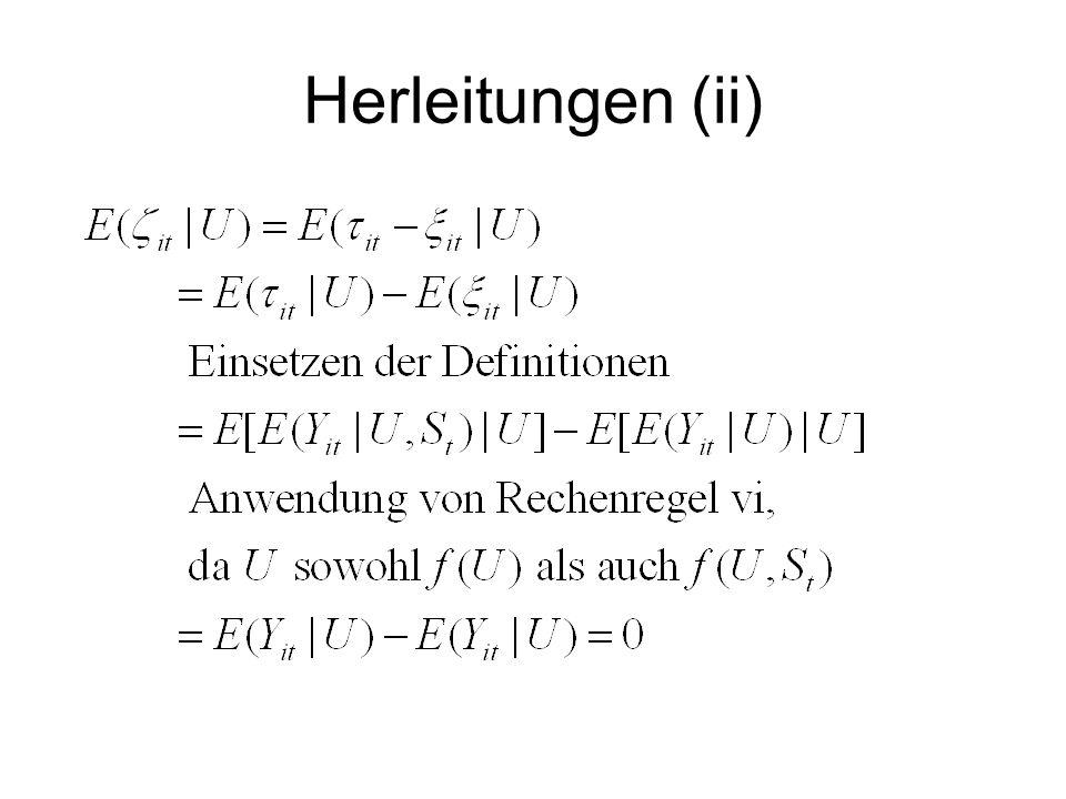 Herleitungen (iii)