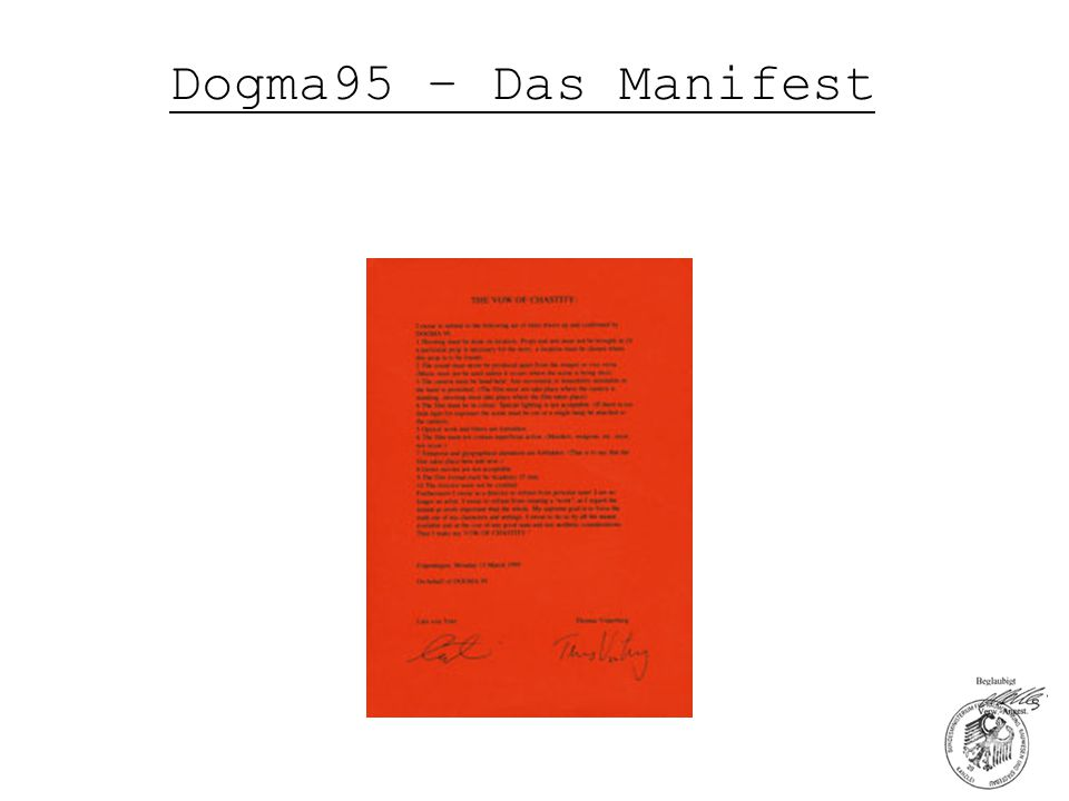 Dogma95 – Das Manifest