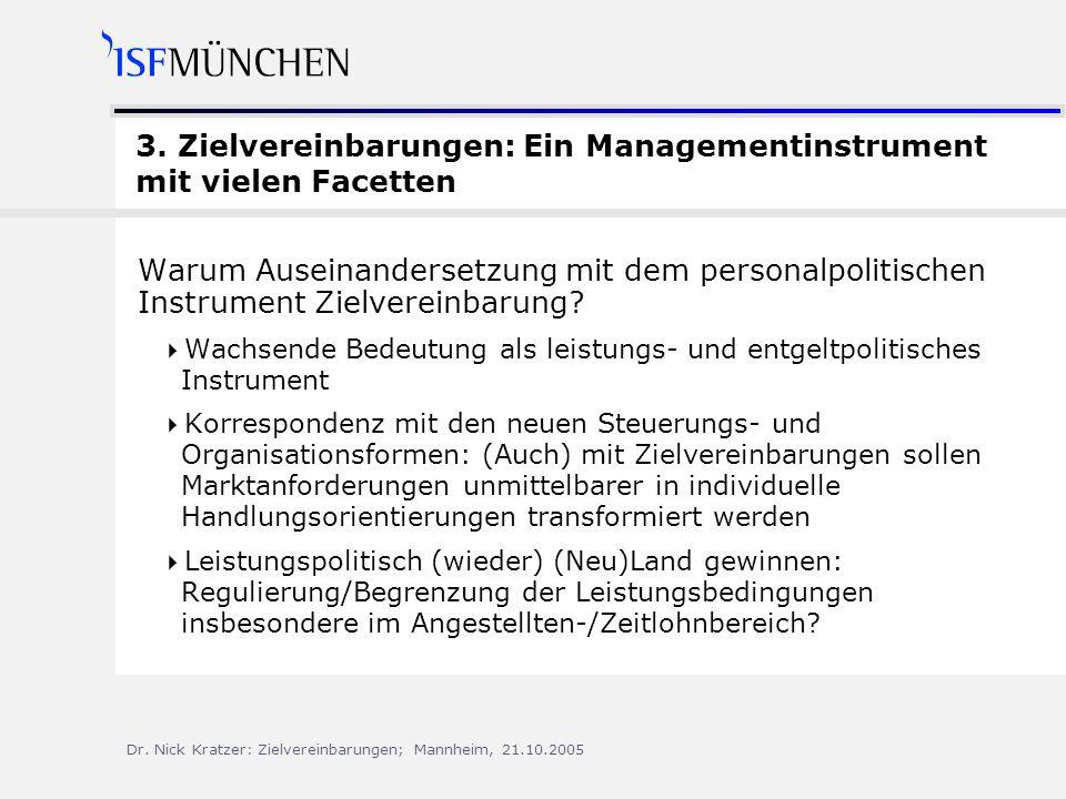 Dr.Nick Kratzer: Zielvereinbarungen; Mannheim, 21.10.2005 3.