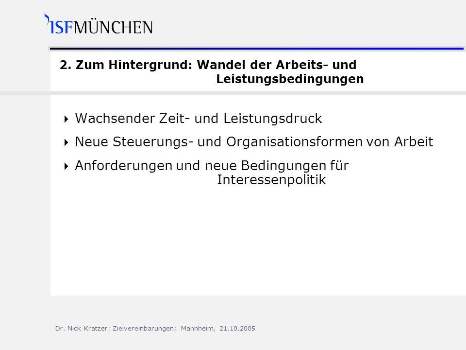 Dr.Nick Kratzer: Zielvereinbarungen; Mannheim, 21.10.2005 2.