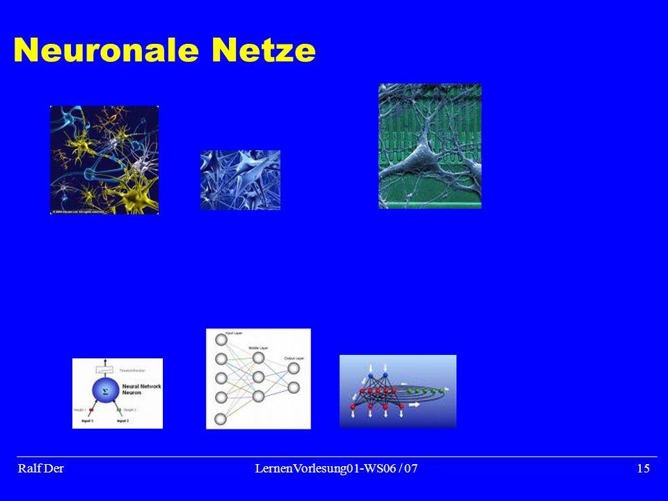 Ralf DerLernenVorlesung01-WS06 / 0715 Neuronale Netze