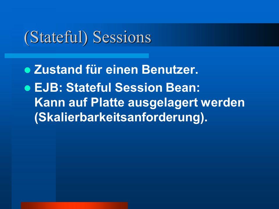 (Stateful) Sessions Zustand für einen Benutzer.