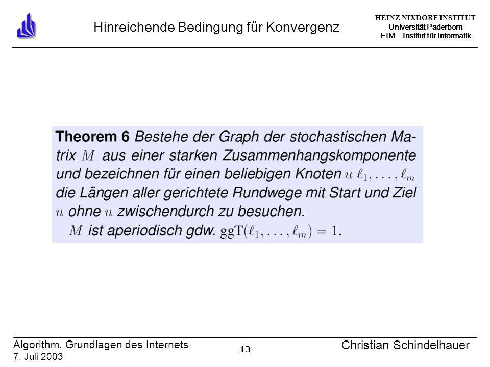 HEINZ NIXDORF INSTITUT Universität Paderborn EIM ‒ Institut für Informatik 13 Algorithm.