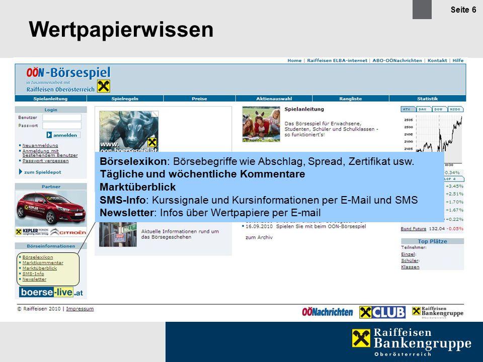 Seite 6 Wertpapierwissen Börselexikon: Börsebegriffe wie Abschlag, Spread, Zertifikat usw.