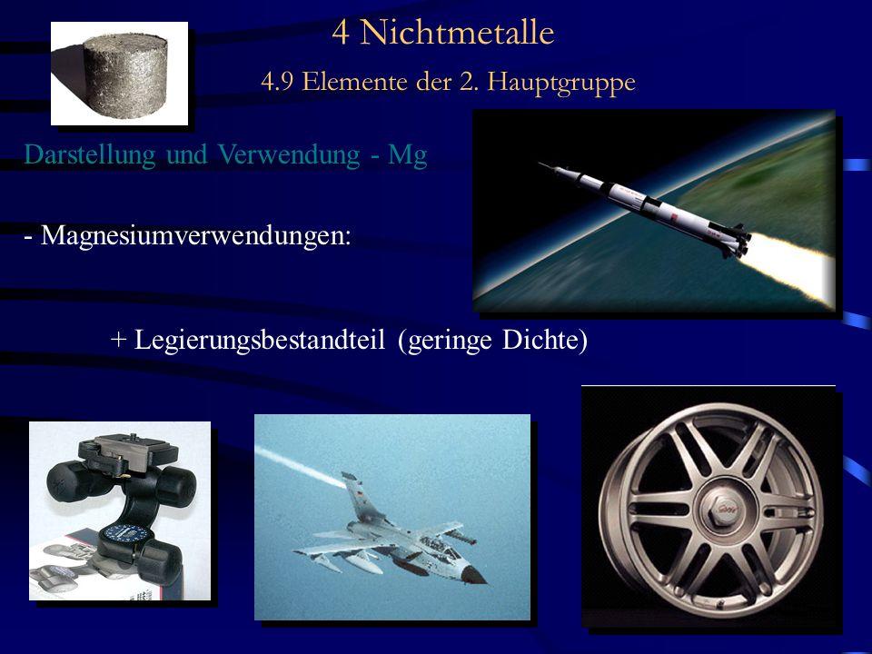 5 Metalle 5.2 der metallische Zustand Stellung im PSE, Eigenschaften - Schmelzp.