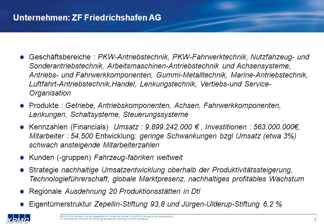 2 © 2005 KPMG Deutsche Treuhand-Gesellschaft AG, the German member firm of KPMG International, a Swiss cooperative. All rights reserved. KPMG and the