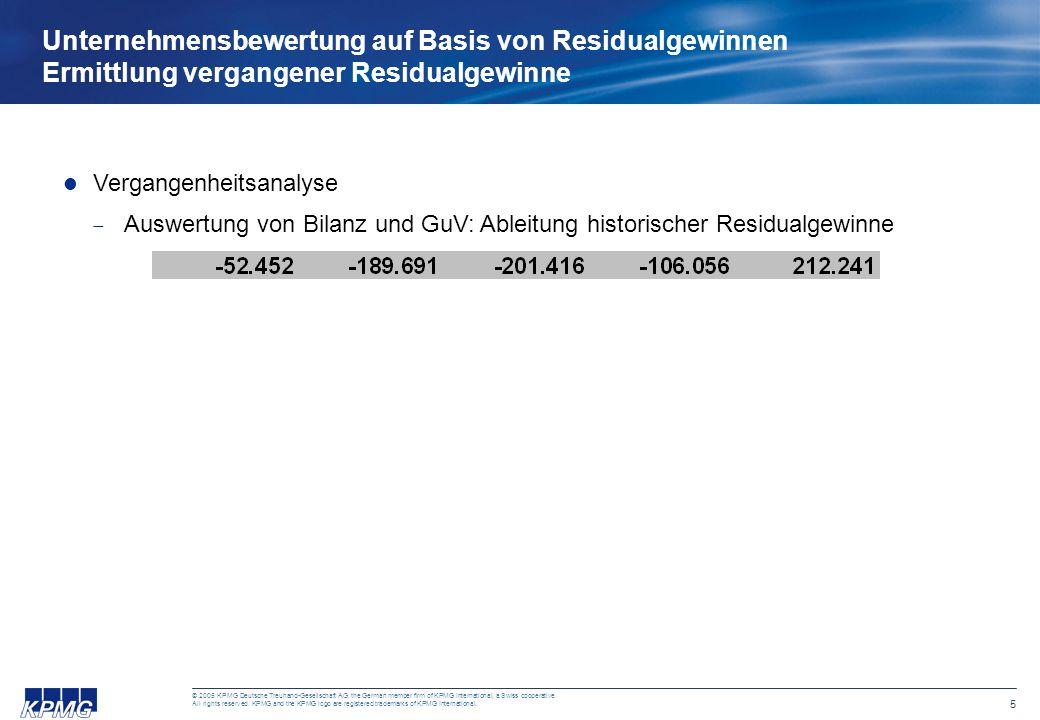 5 © 2005 KPMG Deutsche Treuhand-Gesellschaft AG, the German member firm of KPMG International, a Swiss cooperative.
