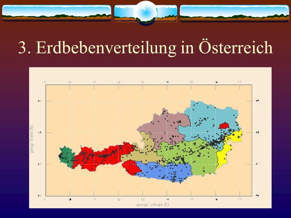 3. Erdbebenverteilung in Österreich