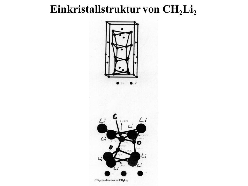 Einkristallstruktur von CH 2 Li 2