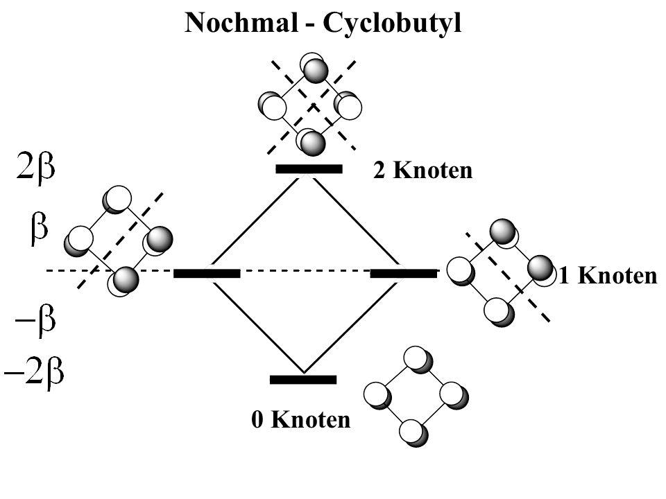Nochmal - Cyclobutyl 0 Knoten 1 Knoten 2 Knoten