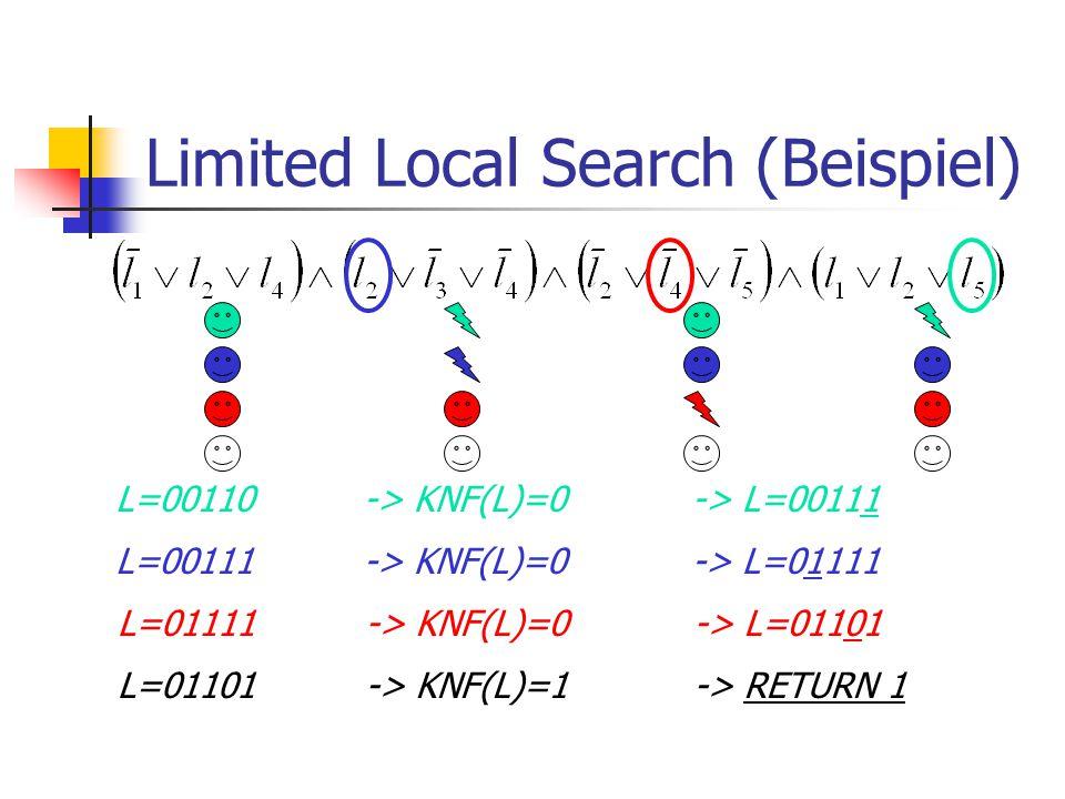 Limited Local Search & Restart Benütze dazu den LLS Algorithmus.