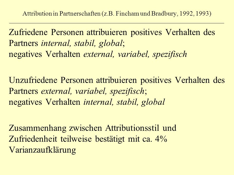 Attribution in Partnerschaften (z.B.