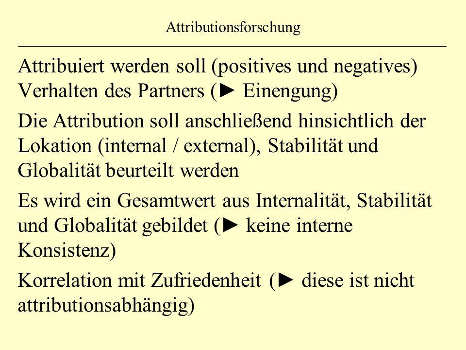 Attributionale Theorie nach Weiner Ereignis → (Un-)Zufriedenheit → Attribution Lokalität → Stolz, Schuldgefühl, Ärger, Sympathie Stabilität → Erwartungen, Verhaltensintention