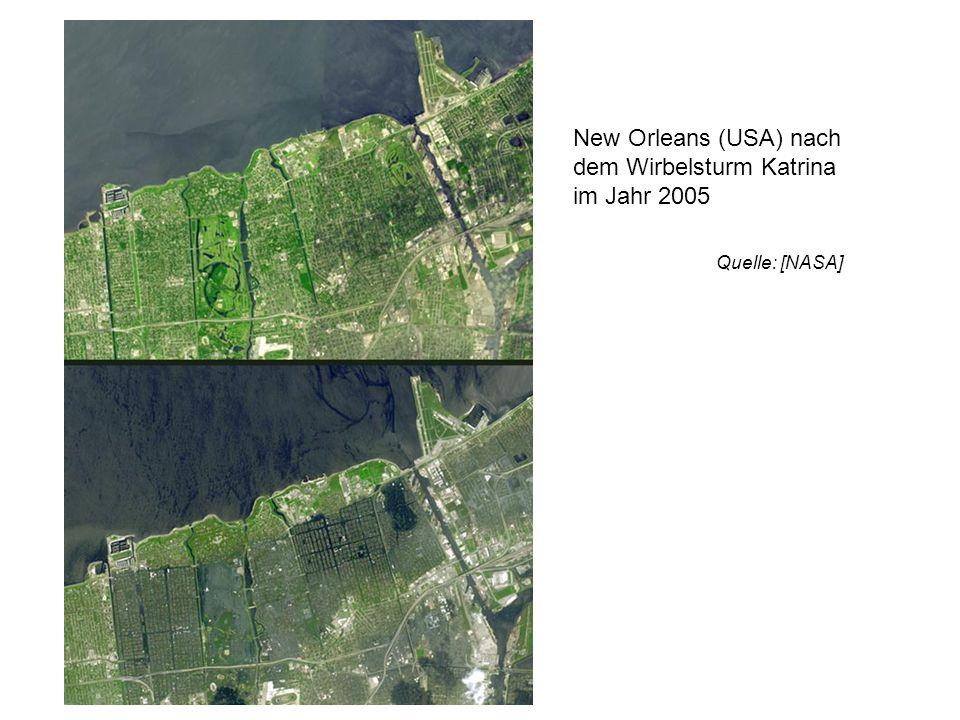 www.ecodesign.at New Orleans (USA) nach dem Wirbelsturm Katrina im Jahr 2005 Quelle: [NASA]