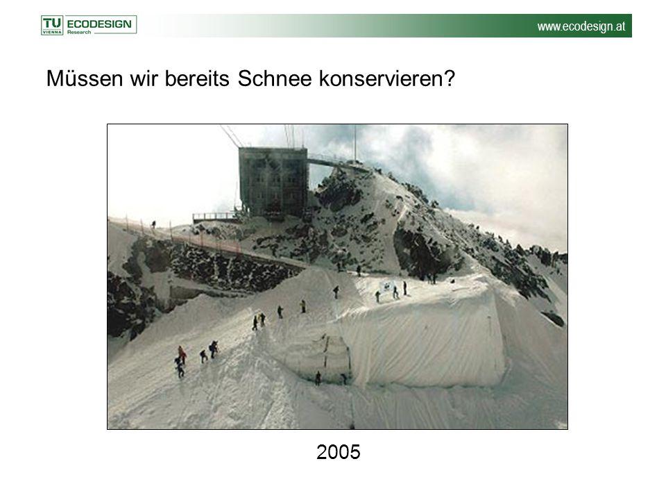 www.ecodesign.at 2005 Müssen wir bereits Schnee konservieren?