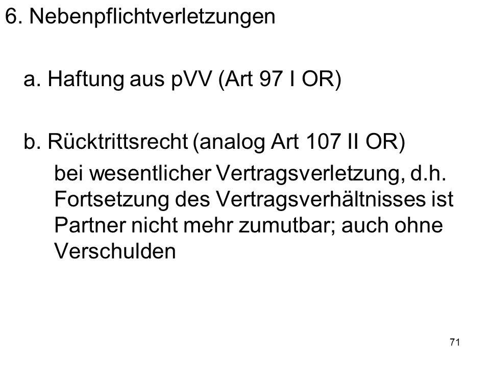 72 7.Gläubiger- oder Annahmeverzug a.
