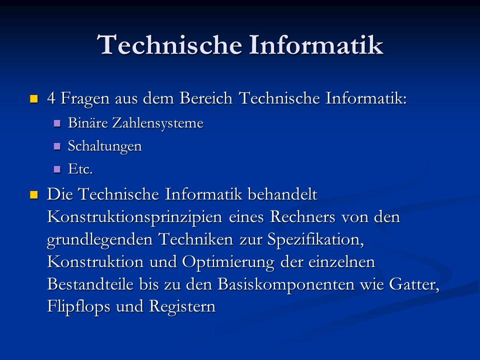 Theoretische Informatik 4 Fragen aus dem Bereich Theoretische Informatik: 4 Fragen aus dem Bereich Theoretische Informatik: Aussagenlogik / Boolesche Ausdrücke Aussagenlogik / Boolesche Ausdrücke Grammatiken Grammatiken Etc.