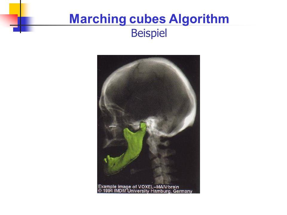 Marching cubes Algorithm Beispiel