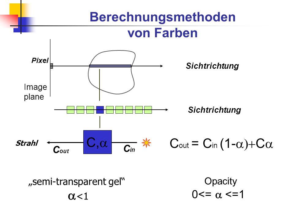 Voxelprojektion von C.