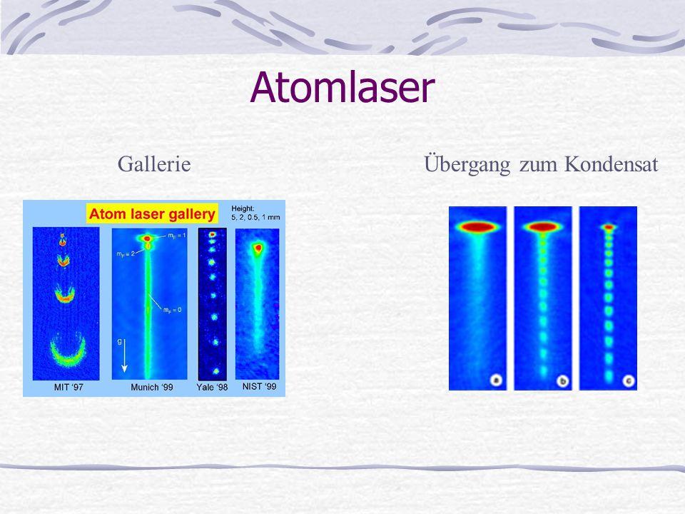 Atomlaser Übergang zum KondensatGallerie
