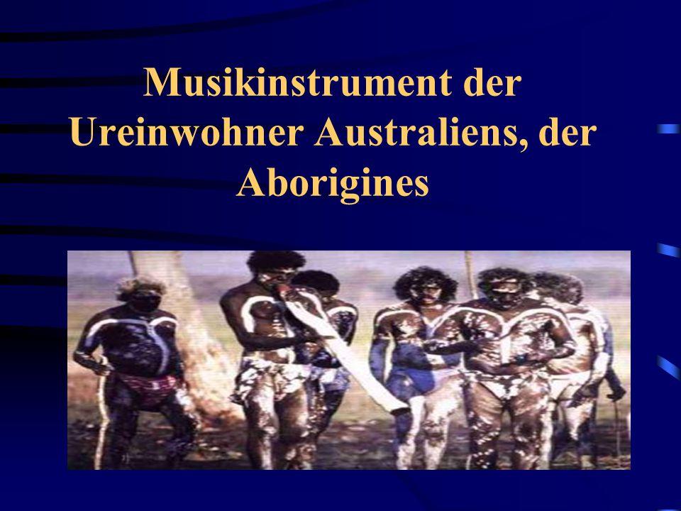 Musikinstrument der Ureinwohner Australiens, der Aborigines