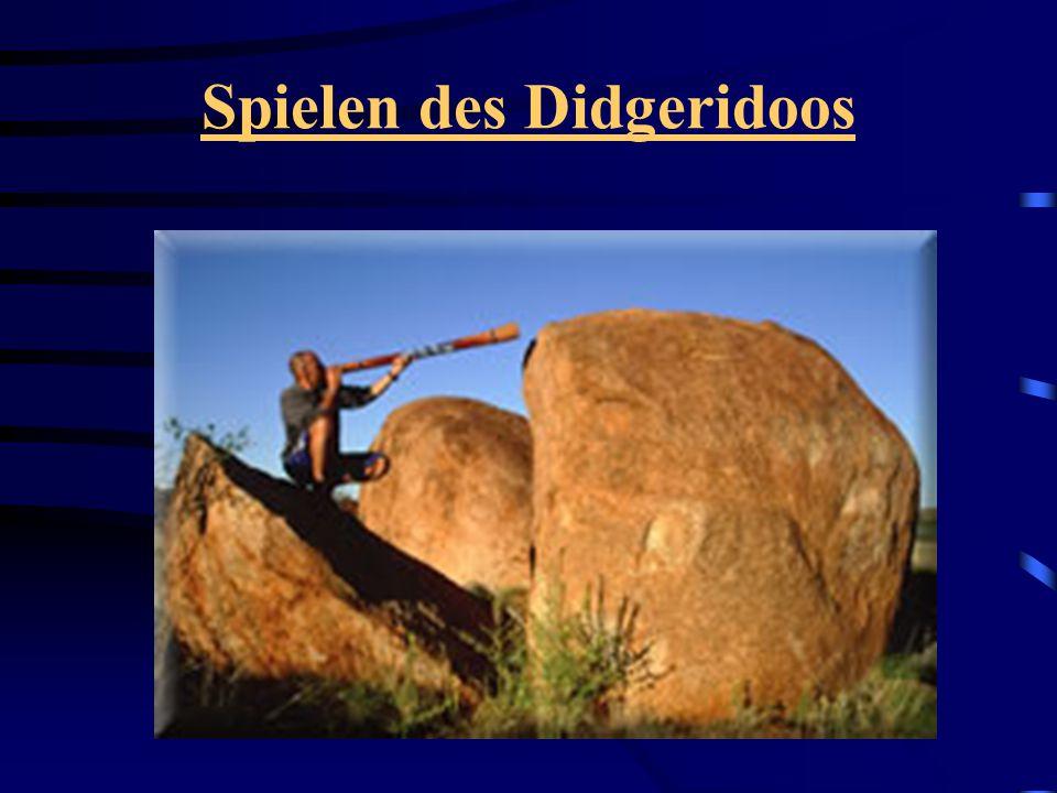 Spielen des Didgeridoos
