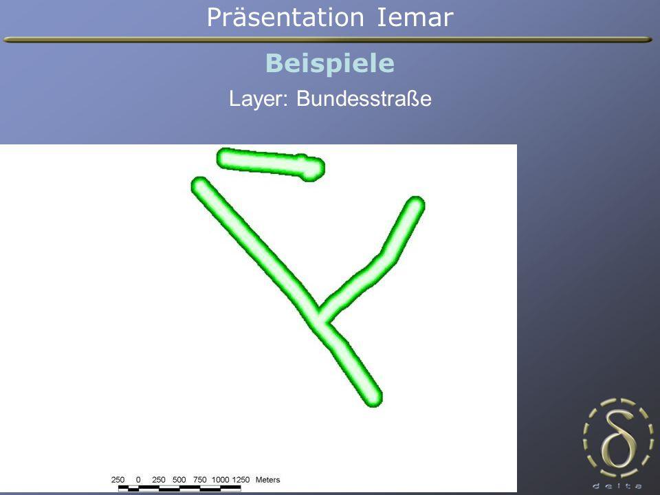 Präsentation Iemar Beispiele Layer: Bundesstraße
