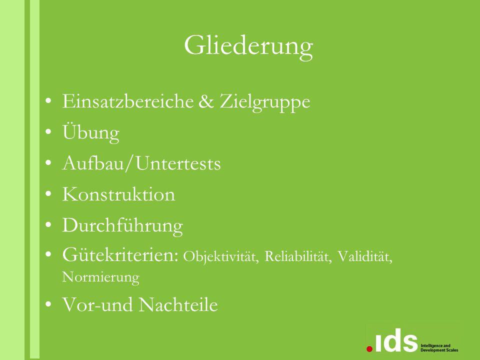 Normierung hoch aktuell: 2007 - 2008 N = 1 492 Kinder zwischen 5 und 10 Jahren aus Deutschland, Österreich und der Schweiz 740 Jungen & n = 752 Mädchen; gemeinsame Normatabelle Möglichkeit zur Berechnung von IQ, Prozentrang & Vertrauensintervall der kognitiven Untertests für die Wertpunktsummen
