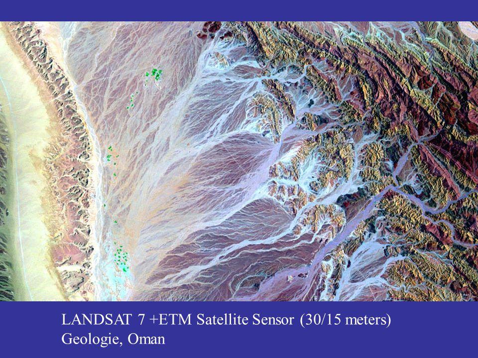 LANDSAT 7 +ETM Satellite Sensor (30/15 meters) Geologie, Oman