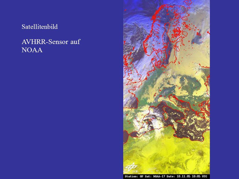 Satellitenbild AVHRR-Sensor auf NOAA
