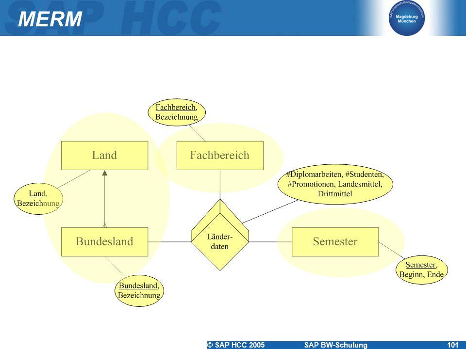 © SAP HCC 2005SAP BW-Schulung101 MERM
