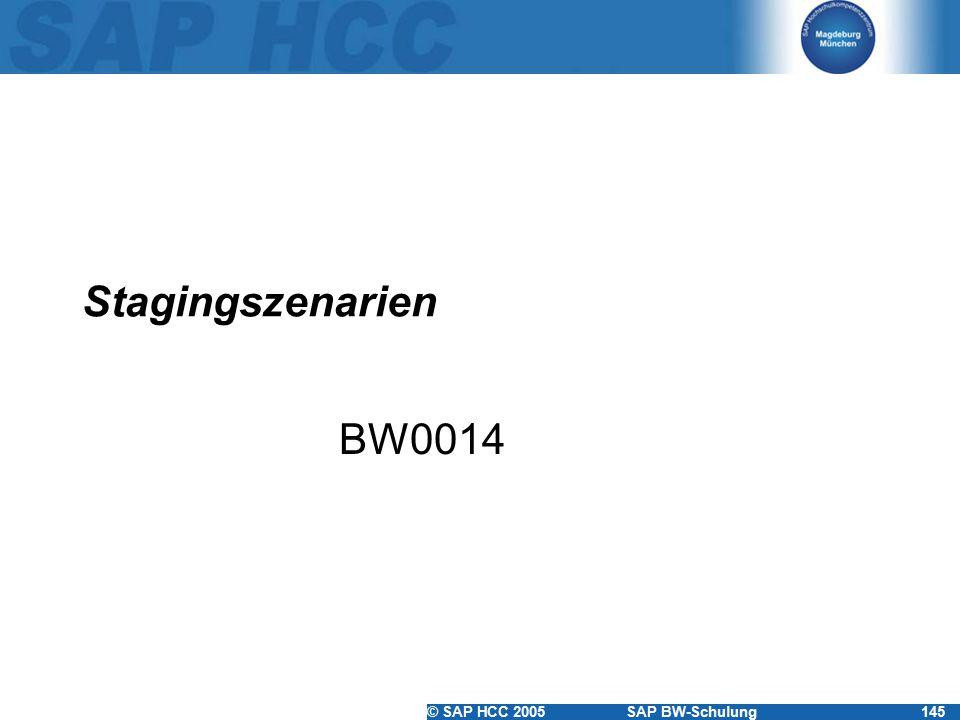 © SAP HCC 2005SAP BW-Schulung145 Stagingszenarien BW0014