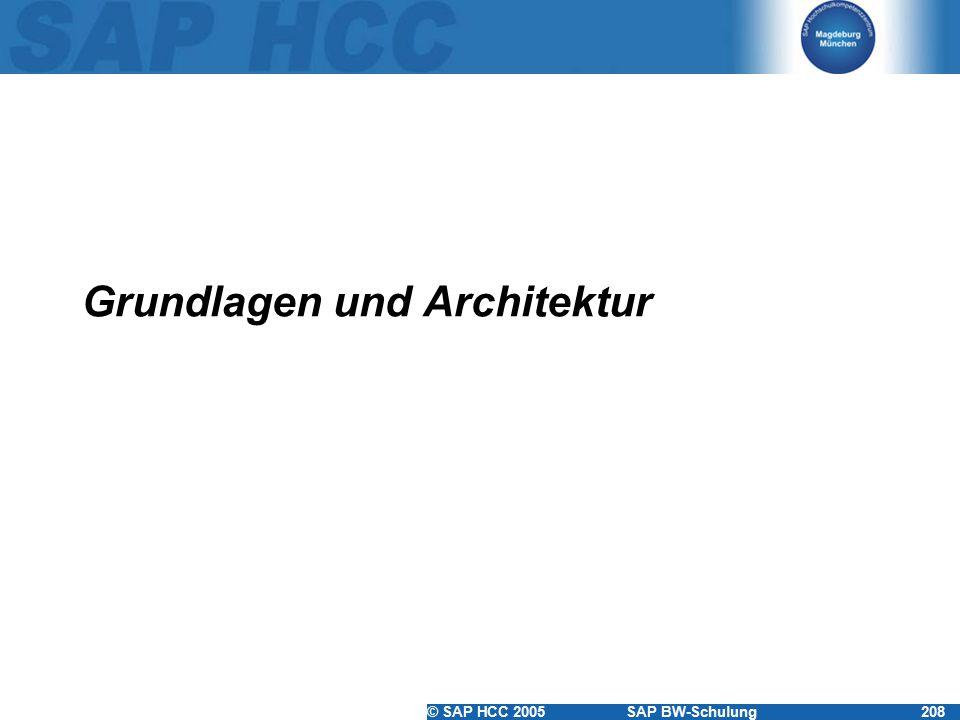 © SAP HCC 2005SAP BW-Schulung208 Grundlagen und Architektur