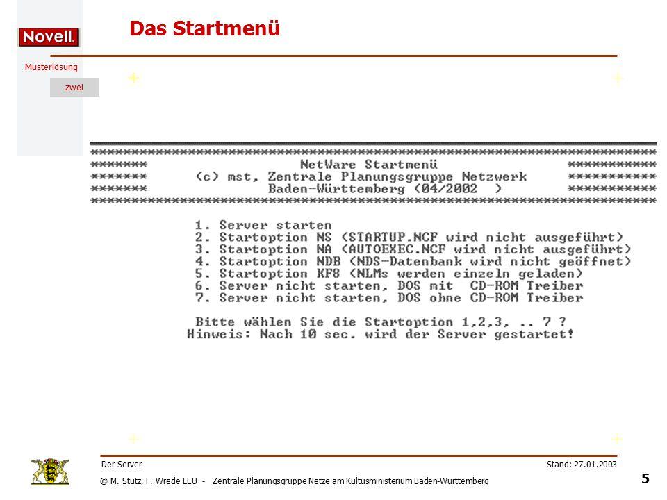 © M. Stütz, F. Wrede LEU - Zentrale Planungsgruppe Netze am Kultusministerium Baden-Württemberg Musterlösung zwei Stand: 27.01.2003 4 Der Server Files