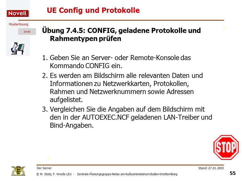 © M. Stütz, F. Wrede LEU - Zentrale Planungsgruppe Netze am Kultusministerium Baden-Württemberg Musterlösung zwei Stand: 27.01.2003 54 Der Server Priv