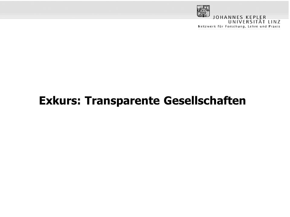 Exkurs: Transparente Gesellschaften