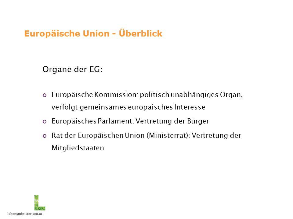 Europäische Union – aktuelle Prozesse 6.Umweltaktionsprogramm: thematische Strategien (insbes.