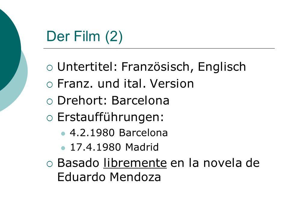 Der Film (2)  Untertitel: Französisch, Englisch  Franz.