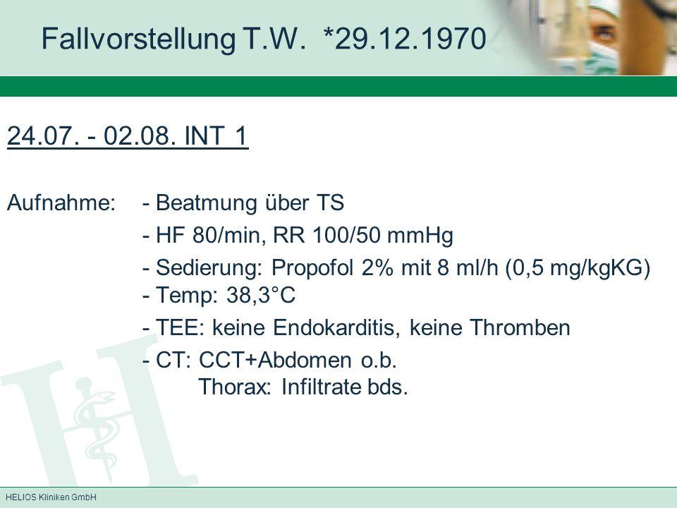 HELIOS Kliniken GmbH Propofolinfusionssyndrom selten, v.a.