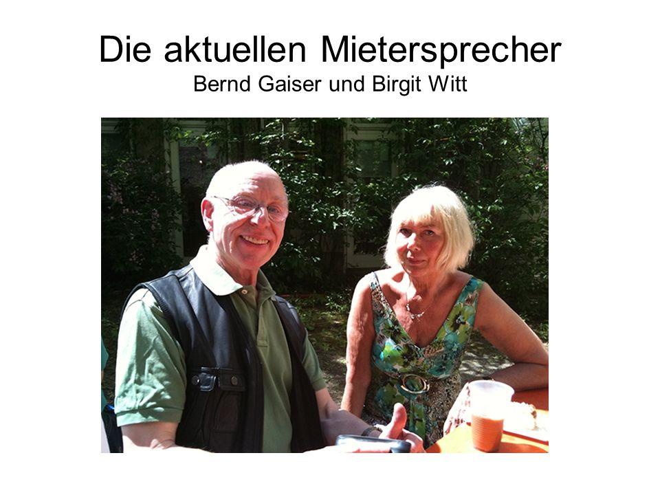 Die aktuellen Mietersprecher Bernd Gaiser und Birgit Witt