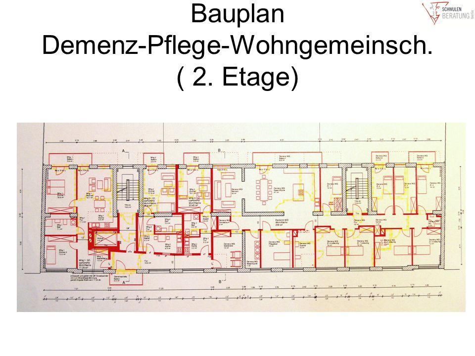Bauplan Demenz-Pflege-Wohngemeinsch. ( 2. Etage)