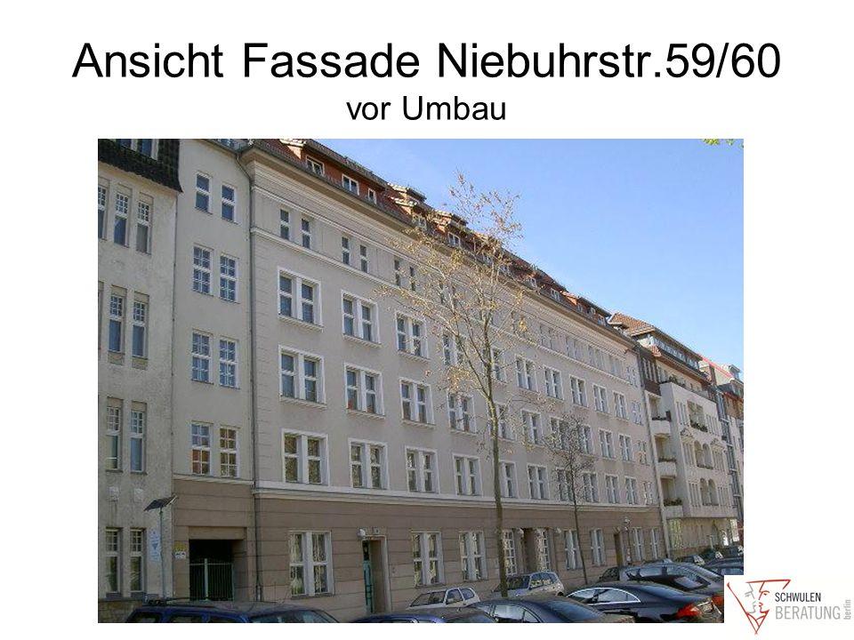 Ansicht Fassade Niebuhrstr.59/60 vor Umbau
