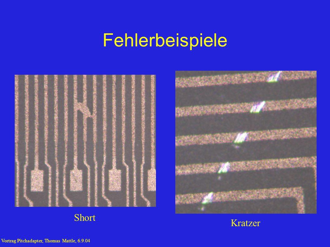 Fehlerbeispiele Kratzer Short Vortrag Pitchadapter, Thomas Mattle, 6.9.04