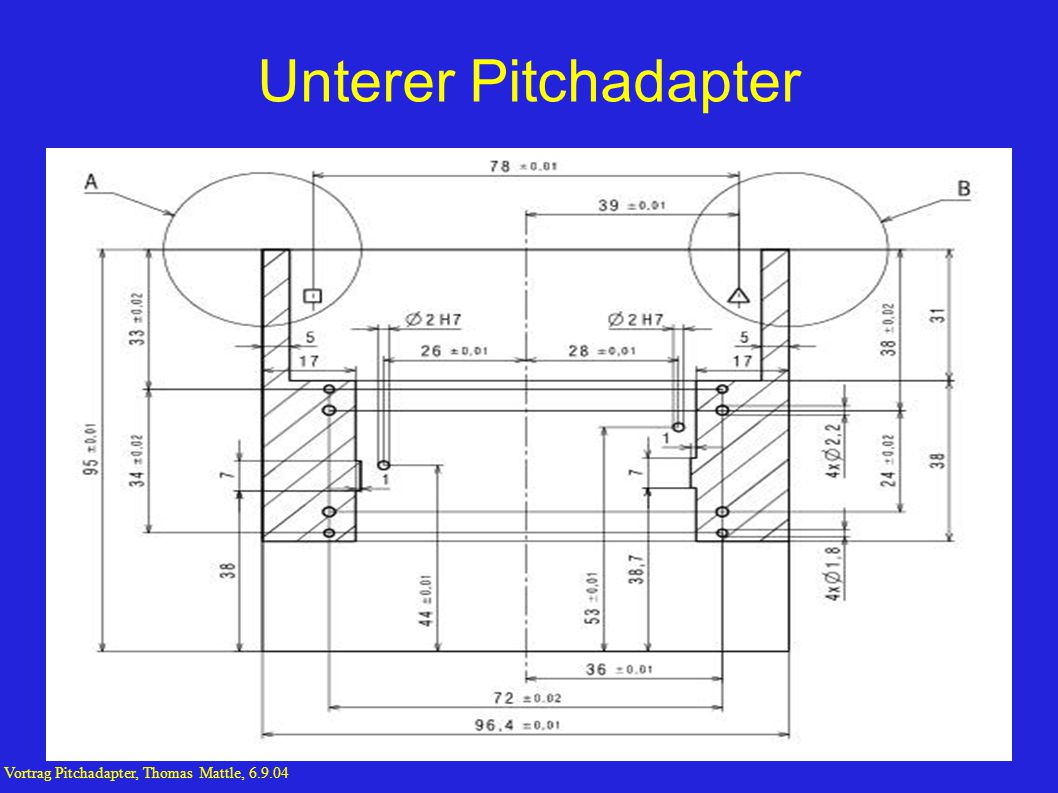 Unterer Pitchadapter Vortrag Pitchadapter, Thomas Mattle, 6.9.04