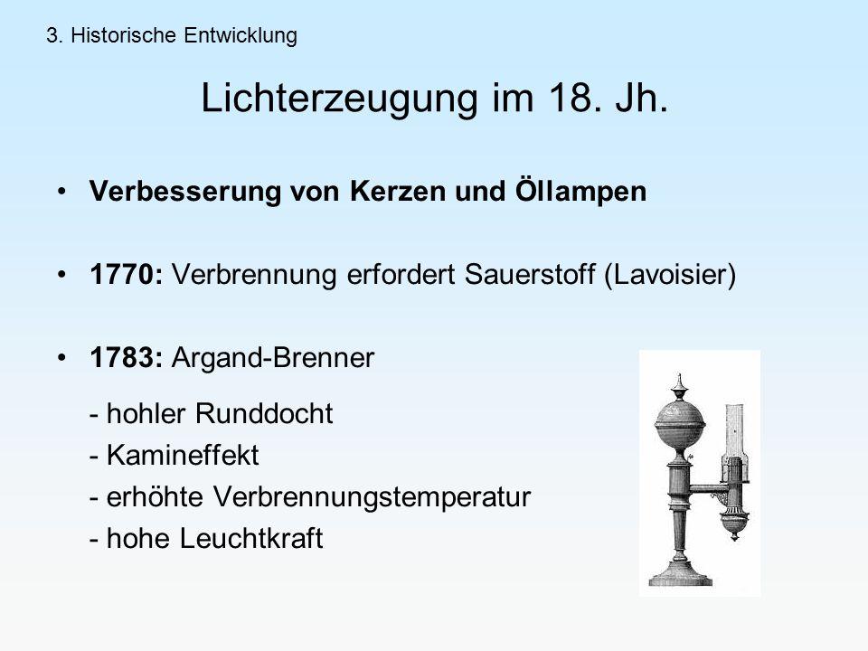 Lichterzeugung im 18.Jh.