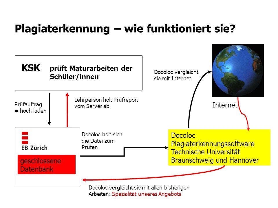 Plagiaterkennung – wie funktioniert sie? Docoloc Plagiaterkennungssoftware Technische Universität Braunschweig und Hannover geschlossene Datenbank prü