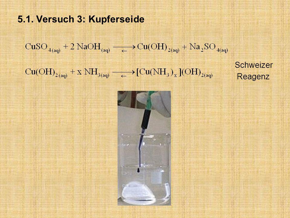 5.1. Versuch 3: Kupferseide Schweizer Reagenz